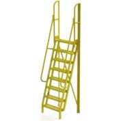"8 Step 75° Incline Ladder - 24""W Grip Strut"