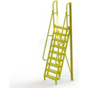 """9 Step 75° Incline Ladder - 24""""W Perforated"""