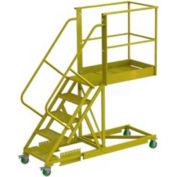 """Supported 5 Step 20"""" Cantilever Ladder - Grip Strut"""