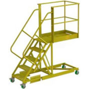 "Supported 5 Step 30"" Cantilever Ladder - Perforated"