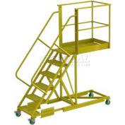 """Supported 6 Step 20"""" Cantilever Ladder - Grip Strut"""