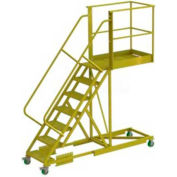 "Supported 7 Step 30"" Cantilever Ladder - Perforated"