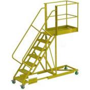 """Supported 7 Step 40"""" Cantilever Ladder - Grip Strut"""