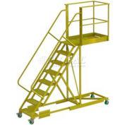 """Supported 8 Step 40"""" Cantilever Ladder - Grip Strut"""