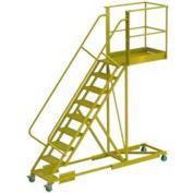 """Supported 9 Step 40"""" Cantilever Ladder - Grip Strut"""