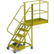 "Unsupported 5 Step 20"" Cantilever Ladder - Grip Strut"