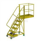 """Unsupported 6 Step 20"""" Cantilever Ladder - Grip Strut"""