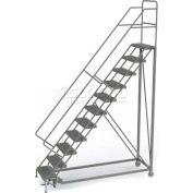 11 Step Configurable Forward Descent Rolling Ladder - Perforated Tread UKDEC111246
