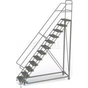 12 Step Configurable Forward Descent Rolling Ladder - Grip Strut Tread UKDEC112242