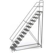 13 Step Configurable Forward Descent Rolling Ladder - Perforated Tread UKDEC113246