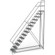 14 Step Configurable Forward Descent Rolling Ladder - Grip Strut Tread UKDEC114242