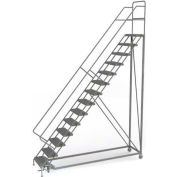 14 Step Configurable Forward Descent Rolling Ladder - Perforated Tread UKDEC114246