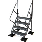 U-Design Rooftop Platforms - 4-Step 50 Degree Incline Ladder - URTL504