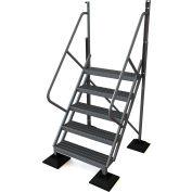 U-Design Rooftop Platforms - 5-Step 50 Degree Incline Ladder - URTL505