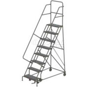 8 Step Steel Rolling Ladder - Grip Strut