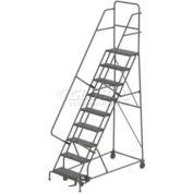 9 Step Steel Rolling Ladder - Grip Strut