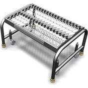 "1 Step Mobile Aluminum Step Stand w/ Grip Strut Top Step & 24""W Platform"
