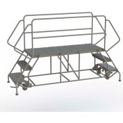 "3 Step Steel Double Entry Mobile Platform, 66""L x 24""W - WLDS132466"