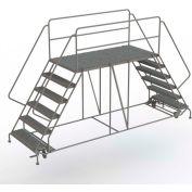 "6 Step Steel Double Entry Mobile Platform, 36""L x 76""W, 42"" Handrails - WLDS163676C"