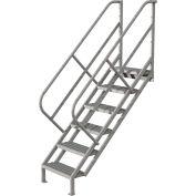 6 Step Industrial Access Stairway Ladder - Grip Strut