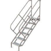 6 Step Industrial Access Stairway Ladder - Perforated