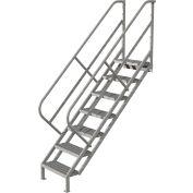 7 Step Industrial Access Stairway Ladder - Grip Strut