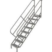 8 Step Industrial Access Stairway Ladder - Grip Strut