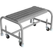 "1 Step Mobile Steel Step Stand w/ Grip Strut Top Step & 24""W Platform - WLSR001242"