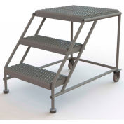 "3 Step Mobile Work Platform 24""W x 24""L, No Handrails, Gray - WLWP032424"