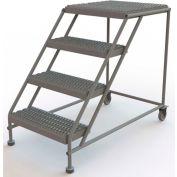 "4 Step Mobile Work Platform 24""W x 24""L, No Handrails, Gray - WLWP042424"