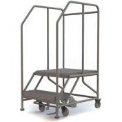 """Mobile 2 Step Steel 24""""W X 24""""L Work Platform Ladder - 800 Lb. Capacity"""