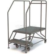 """Mobile 2 Step Steel 24""""W X 36""""L Work Platform Ladder - 800 Lb. Capacity"""