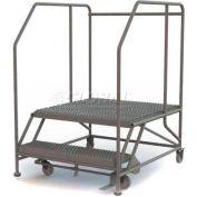 """Mobile 2 Step Steel 36""""W X 36""""L Work Platform Ladder - 800 Lb. Capacity - WLWP123636SL"""