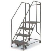 """Mobile 4 Step Steel 24""""W X 24""""L Work Platform Ladder - 800 Lb. Capacity"""