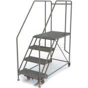 """Mobile 4 Step Steel 24""""W X 36""""L Work Platform Ladder - 800 Lb. Capacity"""