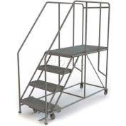 """Mobile 4 Step Steel 24""""W X 48""""L Work Platform Ladder - 800 Lb. Capacity"""