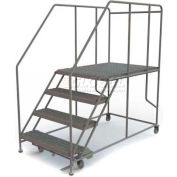 """Mobile 4 Step Steel 36""""W X 48""""L Work Platform Ladder - 800 Lb. Capacity"""