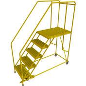 "5 Step Mobile Work Platform 24""W x 36""L, 36"" Handrails, Safety Yellow - WLWP152436SL-Y"