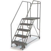 """Mobile 5 Step Steel 24""""W X 36""""L Work Platform Ladder - 800 Lb. Capacity"""