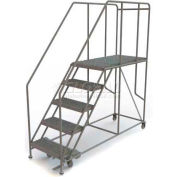 "Mobile 5 Step Steel 24""W X 48""L Work Platform Ladder - 800 Lb. Capacity"