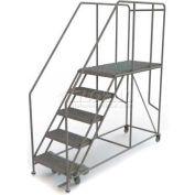 """Mobile 5 Step Steel 24""""W X 48""""L Work Platform Ladder - 800 Lb. Capacity"""