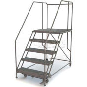 "Mobile 5 Step Steel 36""W X 36""L Work Platform Ladder - 800 Lb. Capacity"