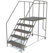"Mobile 5 Step Steel 36""W X 48""L Work Platform Ladder - 800 Lb. Capacity"