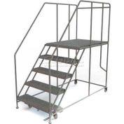 """Mobile 5 Step Steel 36""""W X 48""""L Work Platform Ladder - 800 Lb. Capacity"""
