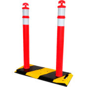 Double Delineator Posts and Base - DP-44D