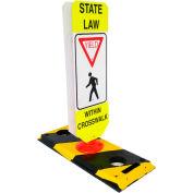 Flexible Post Crosswalk System, State Law - Yield