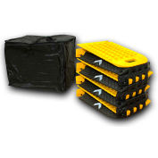 TCT Hinged Portable Speed Bump, 8 Sections, Black/Yellow - PSB-118-10-1