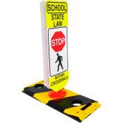 Flexible Post Crosswalk System, School State Law - Stop