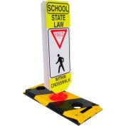 Flexible Post Crosswalk System, School State Law - Yield