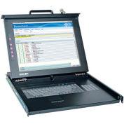 """Tripp Lite Minicom Rack Console PS2 USB 17"""" LCD, Keyboard, Touch Pad 1URM"""